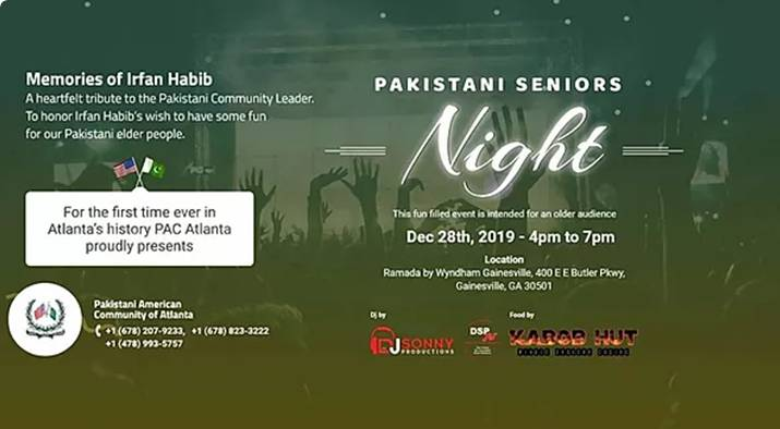 Pakistani Seniors Night