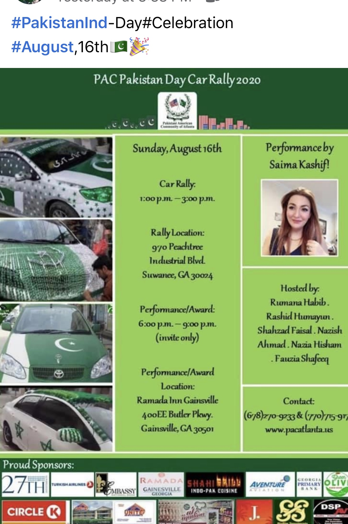 PAC Pakistan Day Car Rally  2020